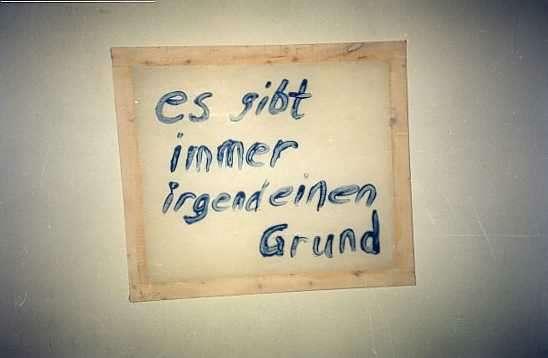 Leitspruch des Ateliers von Udo Schulz